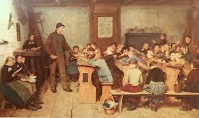 Сельская школа в 1848 году.