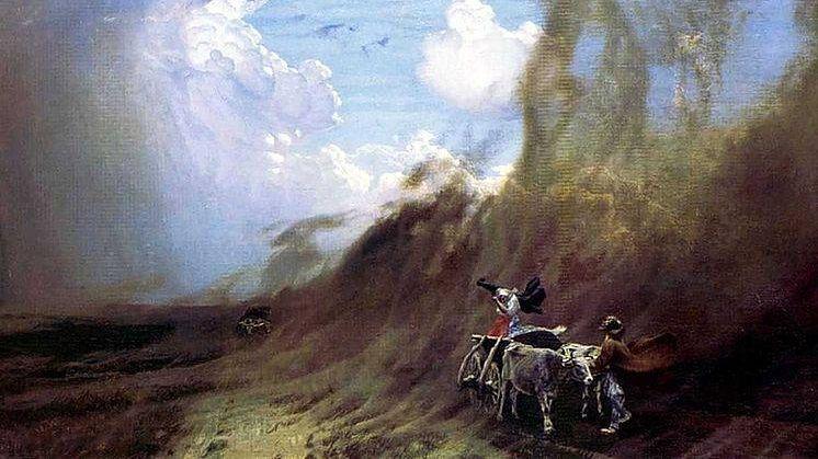 Николай Дубовской. Ураган в степи. 1890