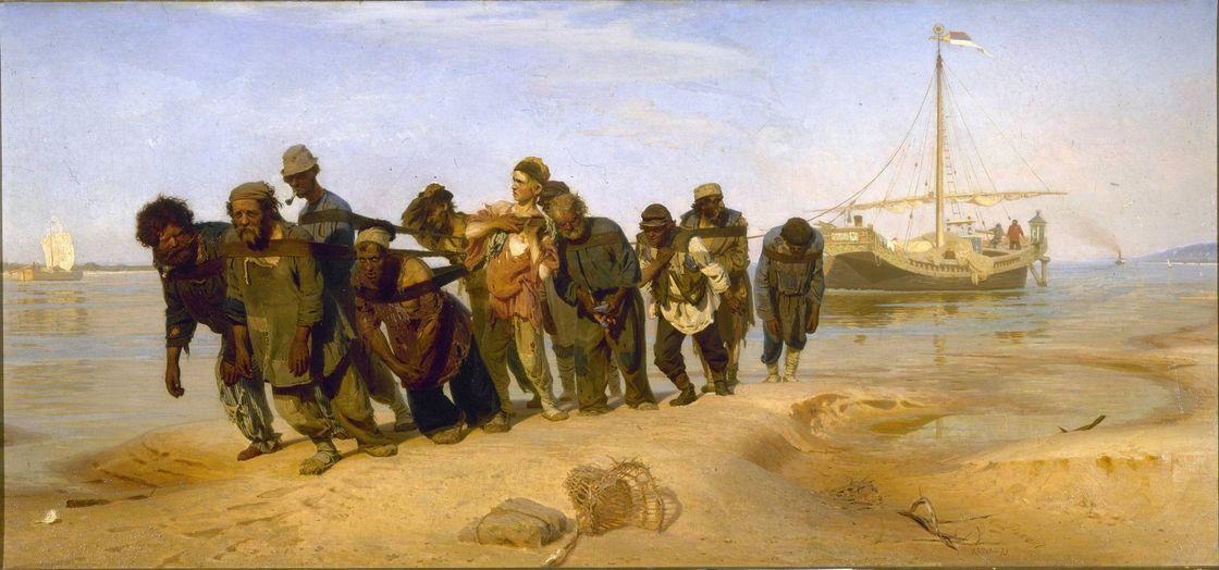 Илья Репин. Бурлаки на Волге. 1872-1873