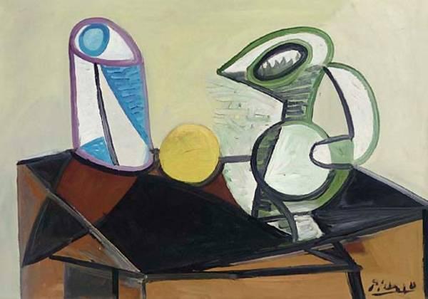 Пабло Пикассо. Стакан и кувшин. 1944