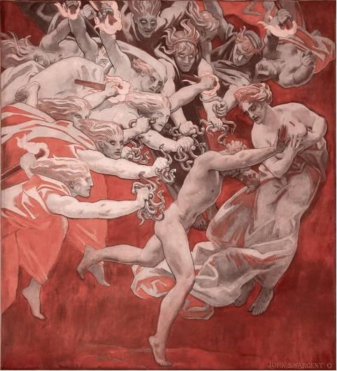 Орест, преследуемый Фуриями (Эриниями). 1921 г.