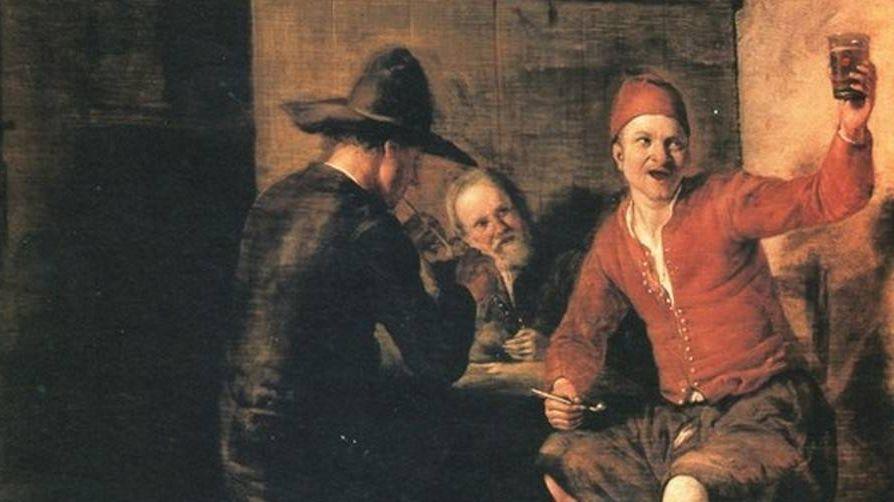 Питер де Хох. Веселые бражники (фрагмент)