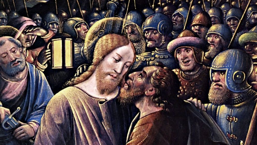 Жан Бурдишон. Поцелуй Иуды. 1500
