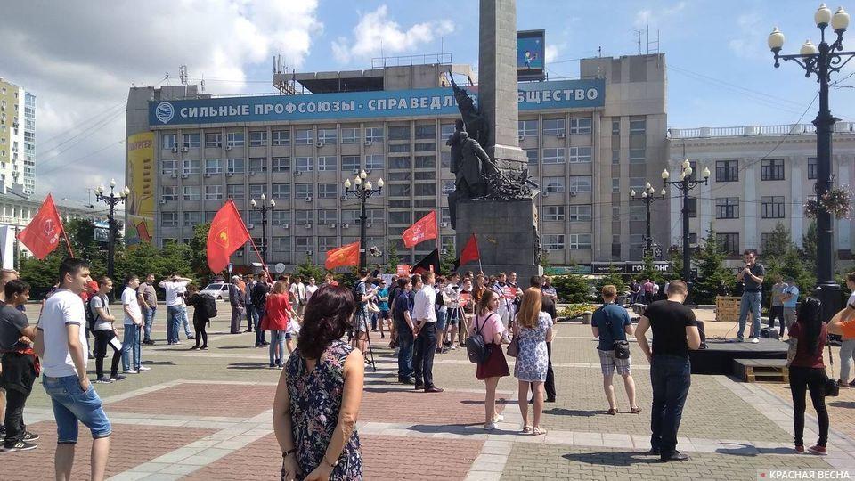 Митинг оппозиционных сил в поддержку Ивана Голунова в Хабаровске. 23.06.2019