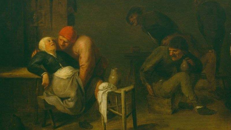 Адриан Брауэр. Крестянская гостиница. 1630