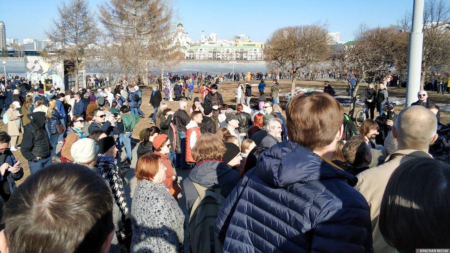 Акция против храма-на-драме, Екатеринбург, 07.04.2019
