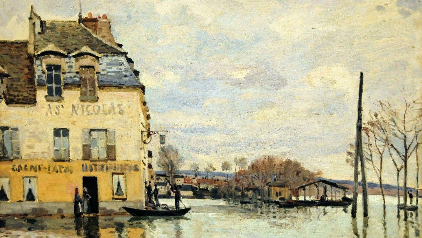 Альфред Сислей. Наводнение в Пор-Марли. 1872
