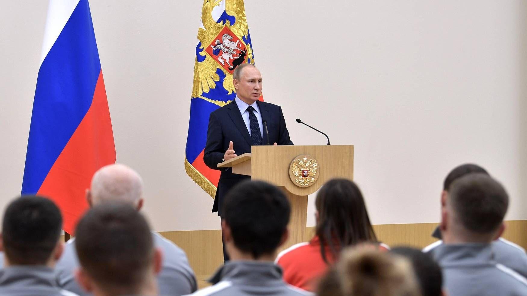 В. Путин на встрече с российскими спортсменами [kremlin.ru]