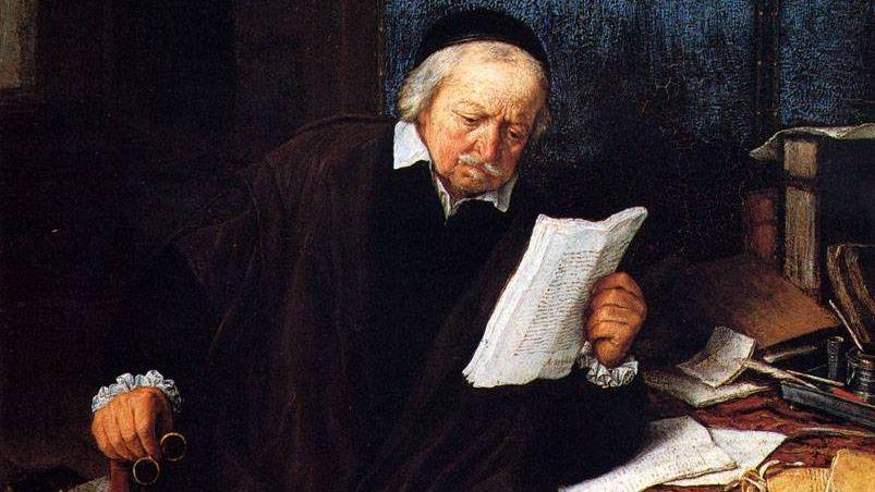 Адриан ван Остаде. Адвокат в своем кабинете (фрагмент). 1637