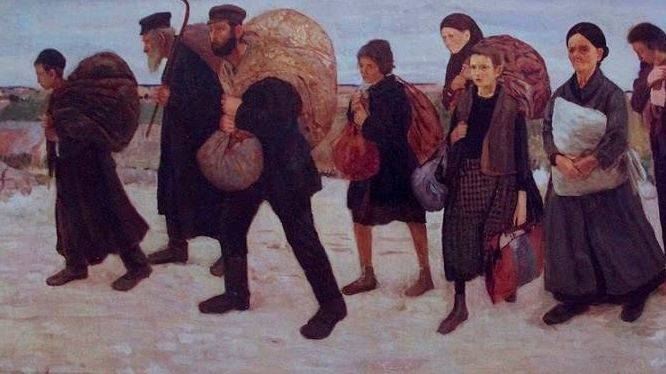 Маурицио Минковский. Беженцы (фрагмент). 1906-1909