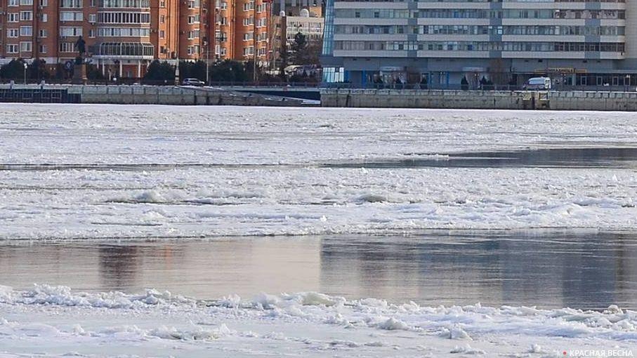 Река Кумылга вВолгоградской области всередине весны может выйти изберегов