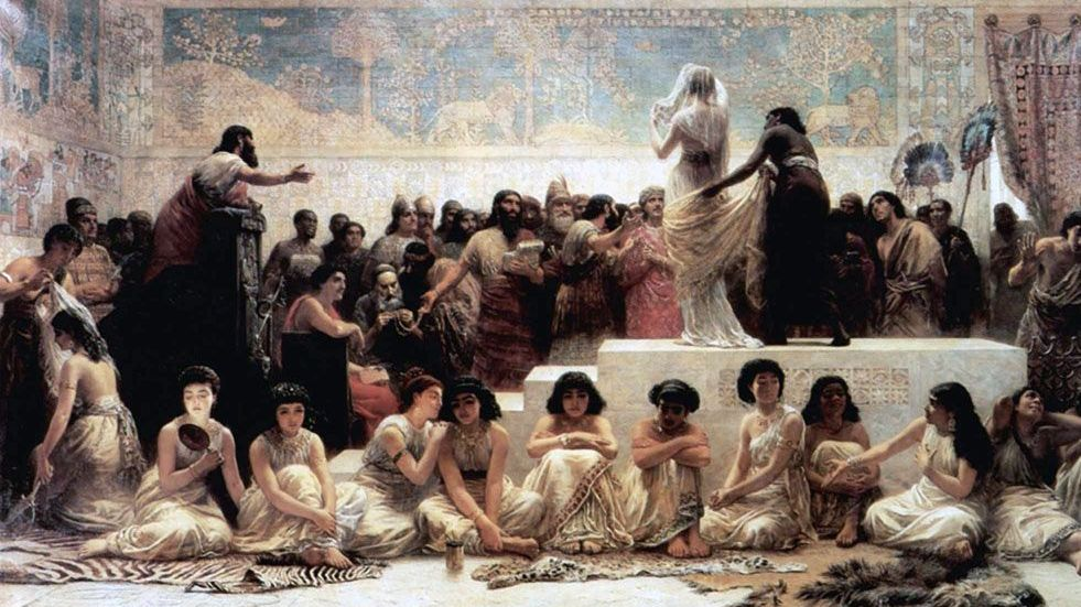 Эдвин Лонг. Ярмарка невест в Вавилоне. 1875