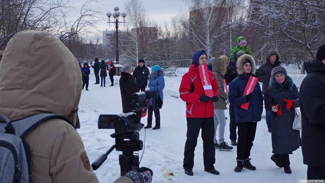 ВКемерове прошла несогласованная акция приверженцев Навального