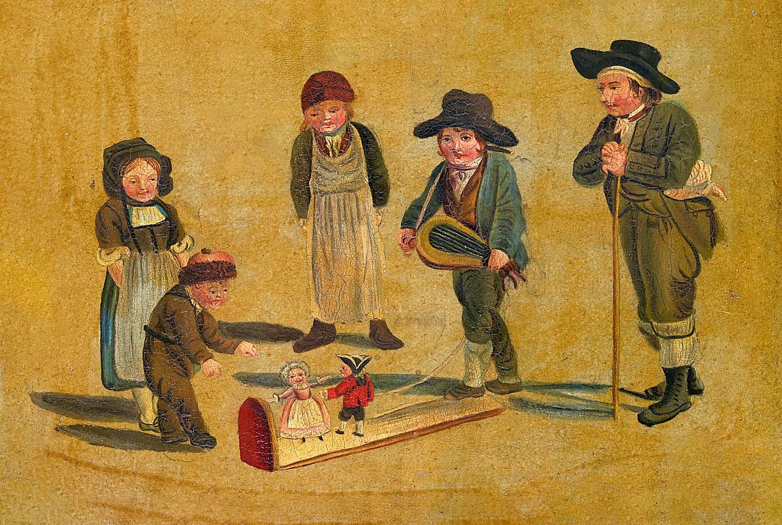 Готтфрид Минд. Дети играющие с куклами. Ок. 1810