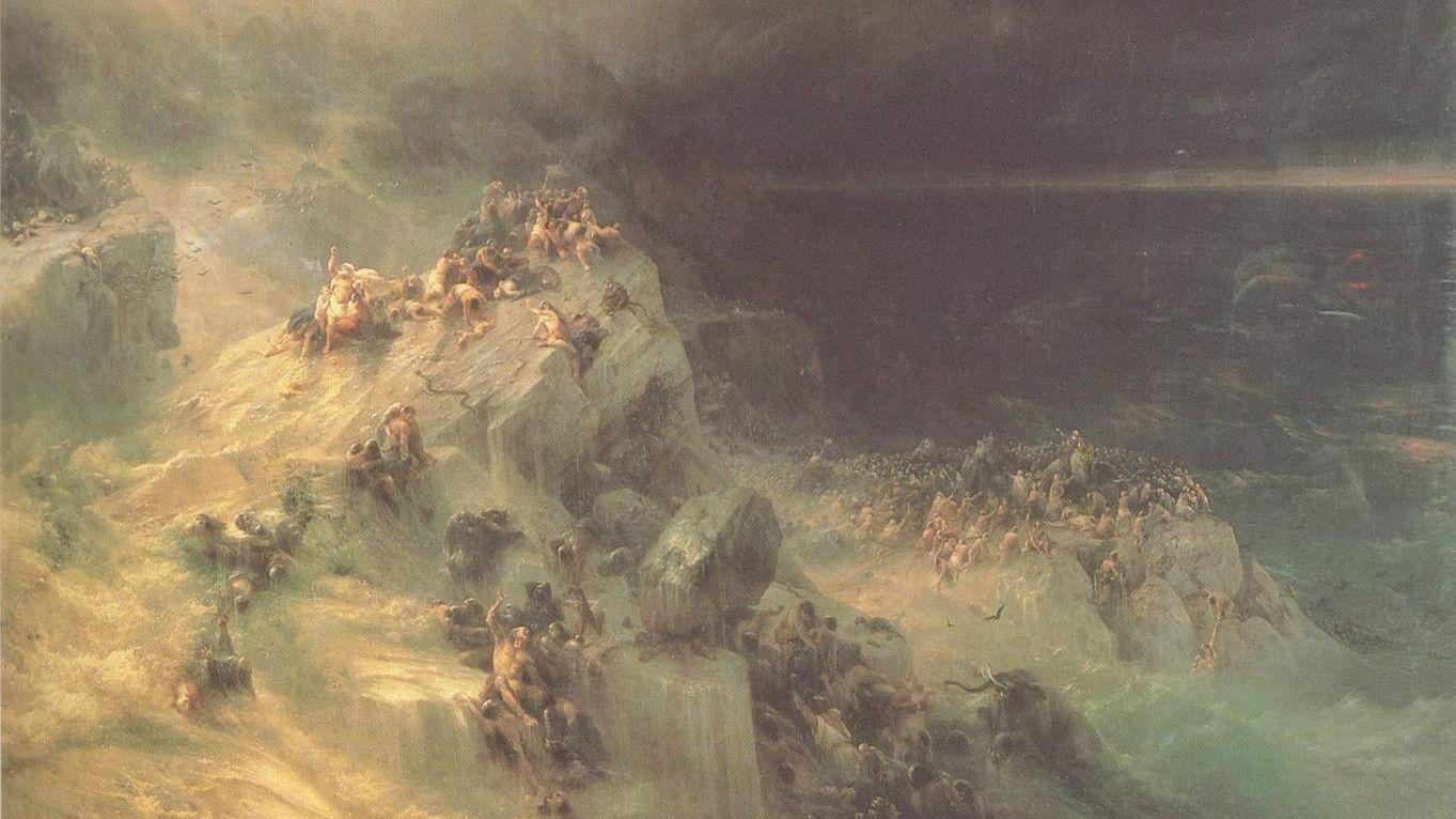Иван Айвазовский. Всемирный потоп. 1864 год
