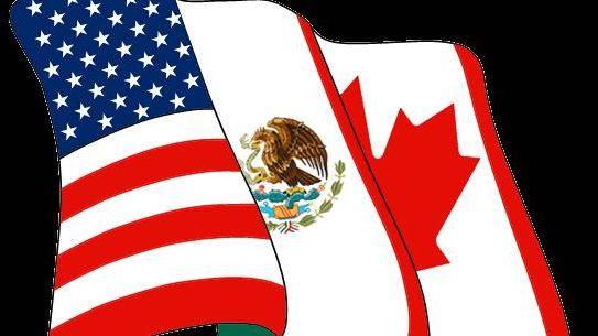 Флаги США, Мексики и Канады (NAFTA logo)
