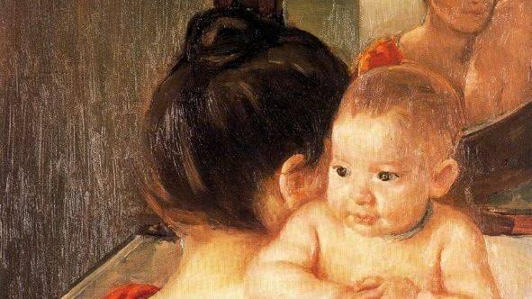 Кассат Мэри. Мать и дитя (фрагмент). 1900
