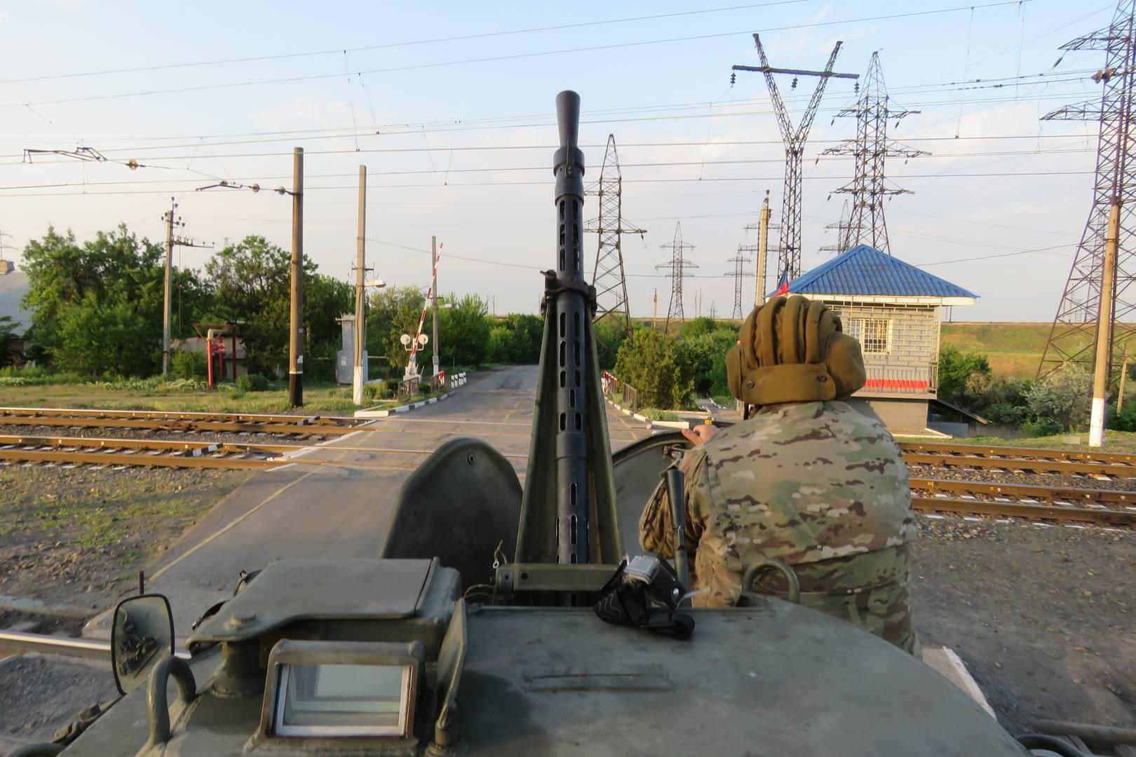 Вид с крыши БТР «Болгарин» отряда «Суть времени». Май 2018 г.