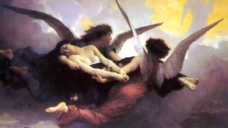 Адольф Вильям Бугро. Душа, уносимая на небеса. 1878