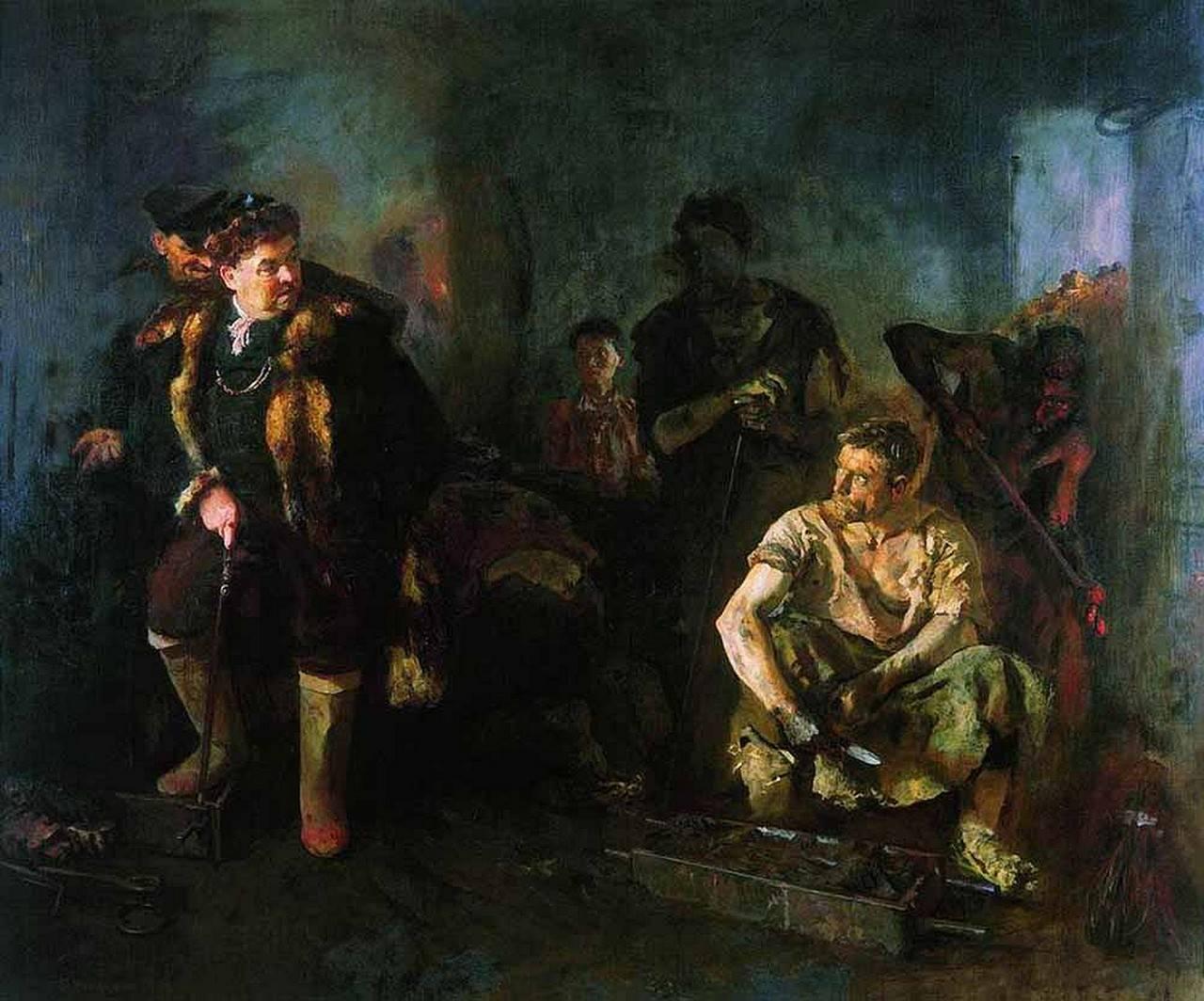 Б. Иогансон. На старом уральском заводе. 1937 г. Государственная Третьяковская галерея, Москва