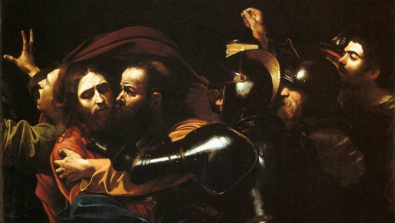 Микеланджело Меризи да Караваджо. Поцелуй Иуды. 1602