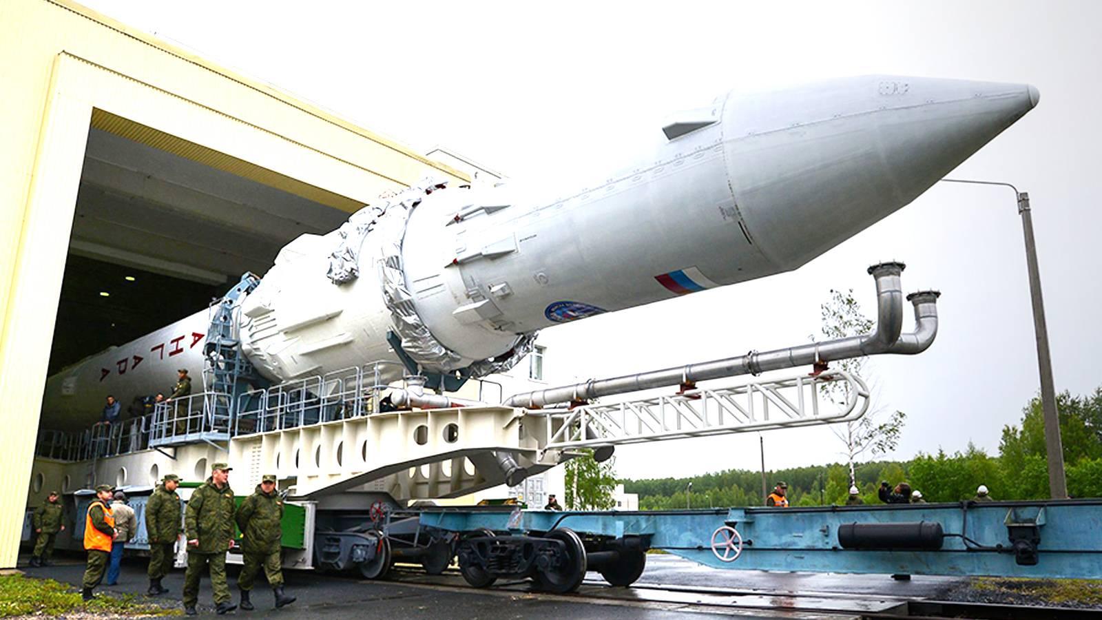 Вывоз ракеты космического назначения «Ангара-1.2ПП». Космодром Плесецк