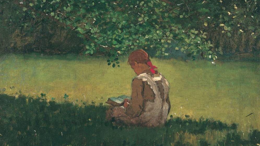 Уинслоу Хомер. Девушка с книгой. 1876