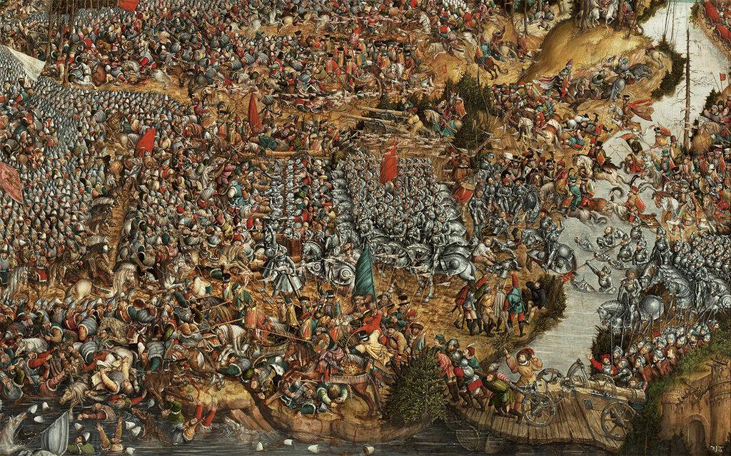 Неизвестный автор. Битва под Оршей (фрагмент). Около 1524-1530 гг.