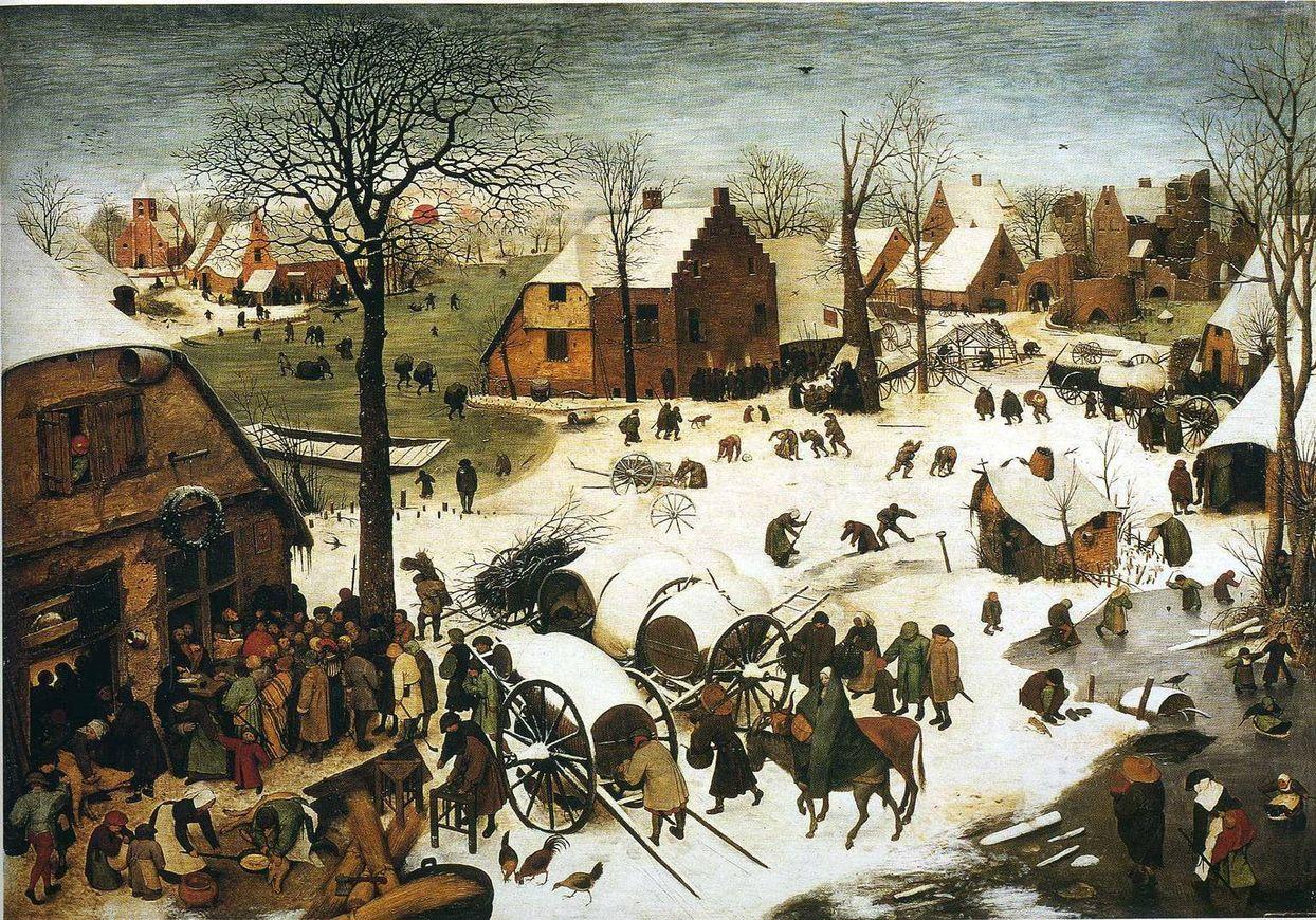 Питер Брейгель Старший. Перепись в Вифлееме. 1566