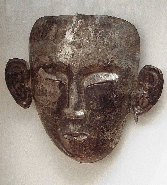 Киданьская погребальная маска эпохи Ляо