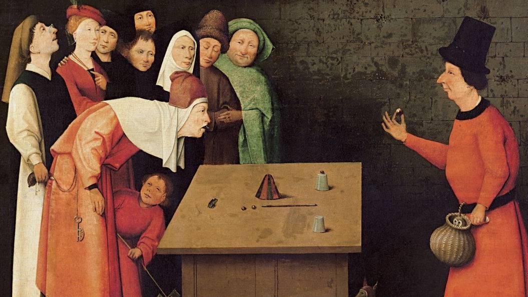 Иероним Босх. Фокусник (фрагмент). 1475-1480