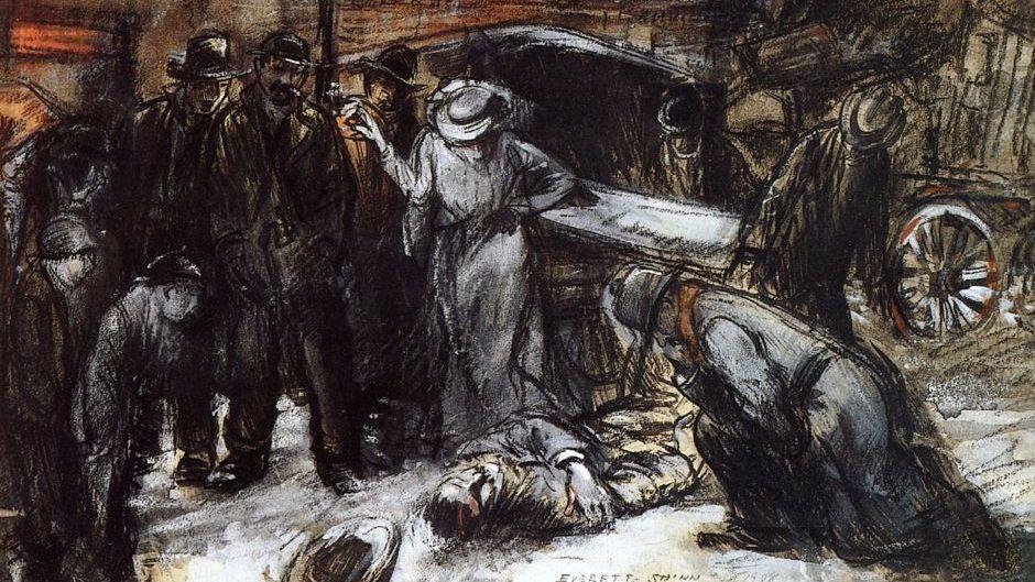 Эверетт Шинн. Ночная жизнь. 1908