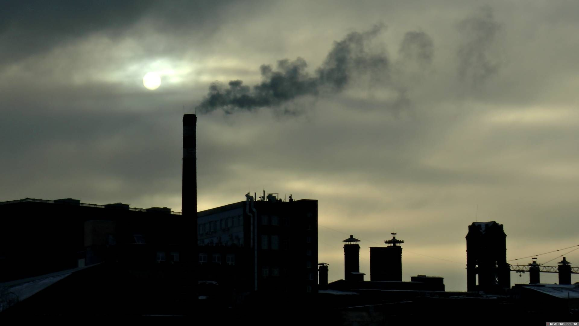 Фабрика на закате. Москва