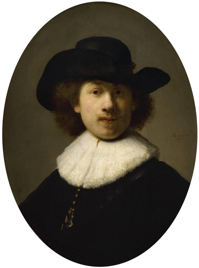 Рембрандт. Портрет молодого человека с кружевным воротничком. XVII век