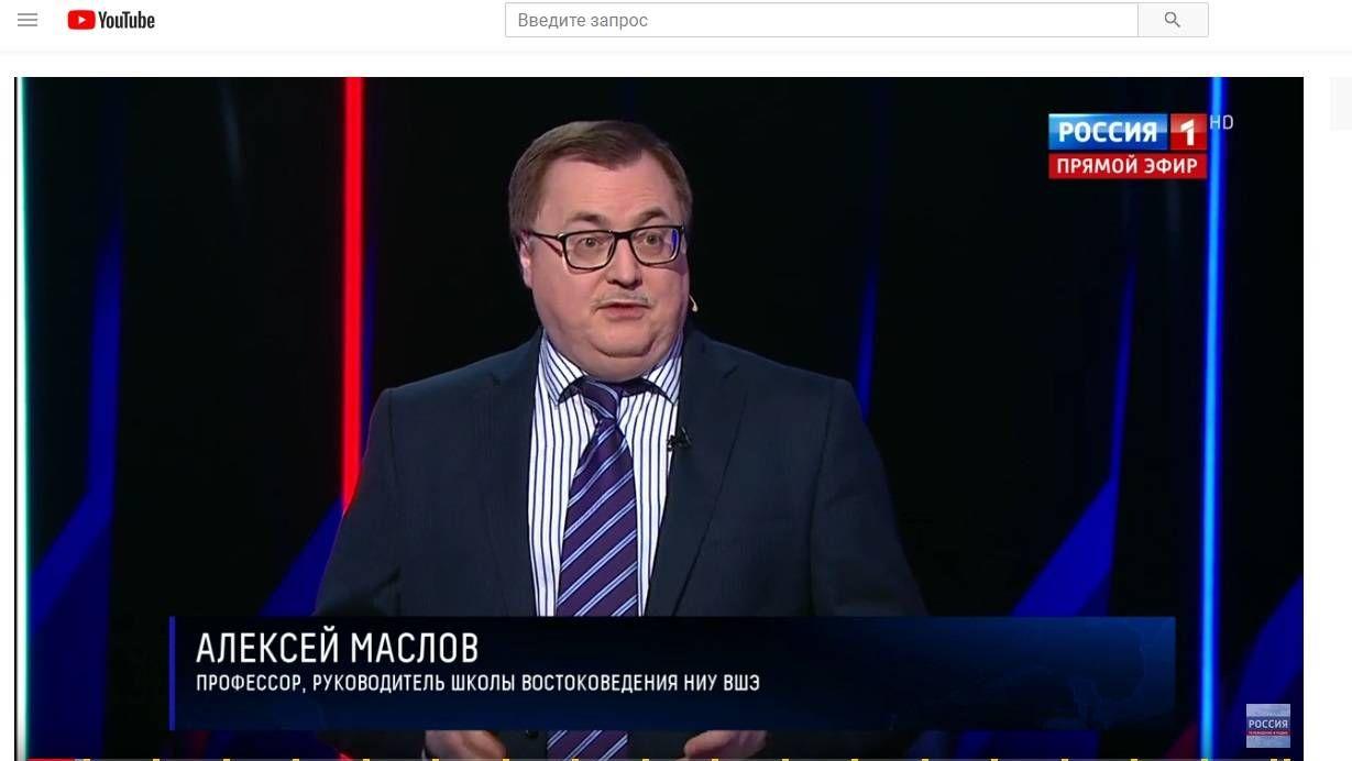 Цитата из передачи «Воскресный вечер с Владимиром Соловьевым» от 20.01.2019