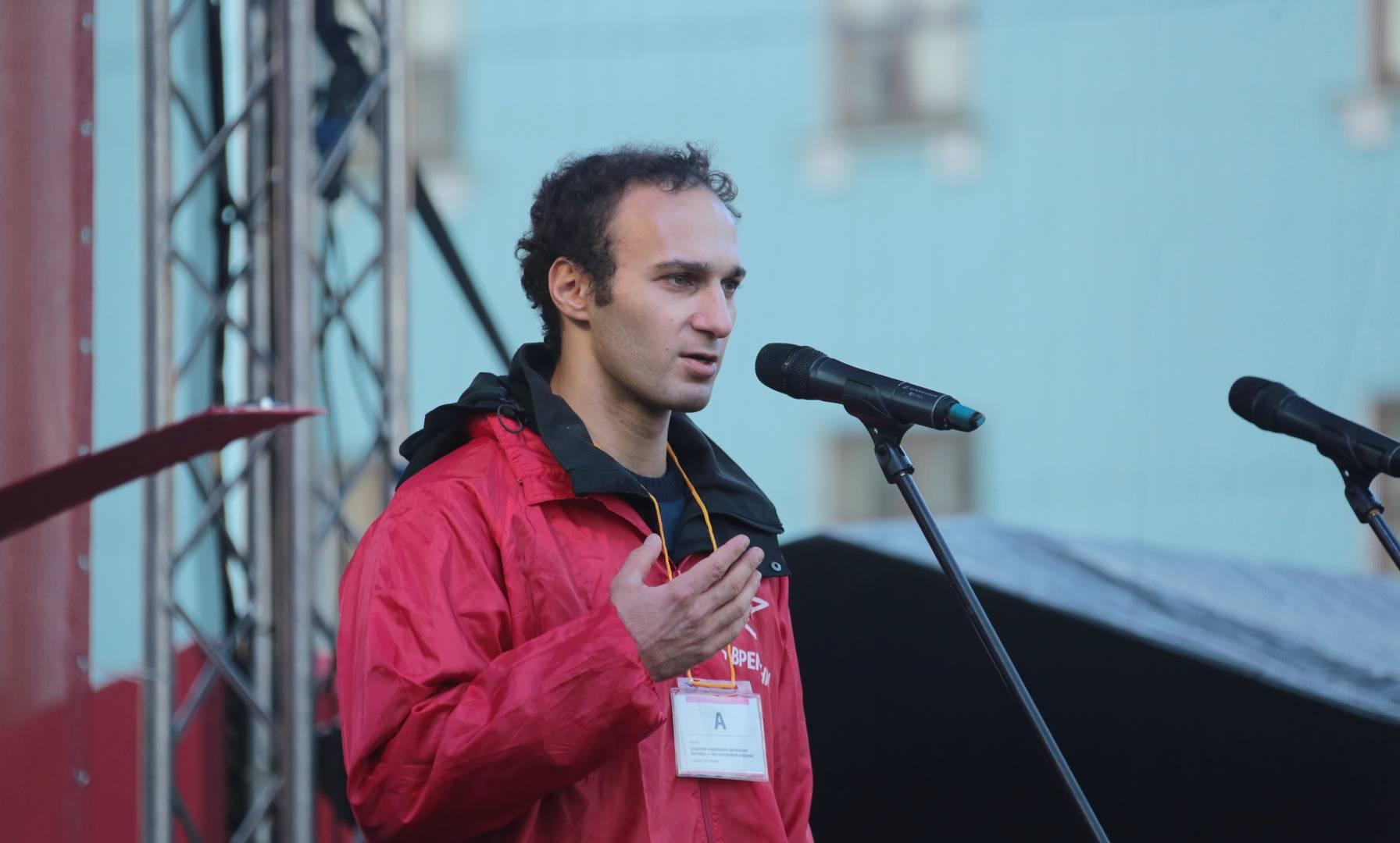 Сергей Григорян на митинге «Сути времени» в Москве, 5 ноября 2018 г.