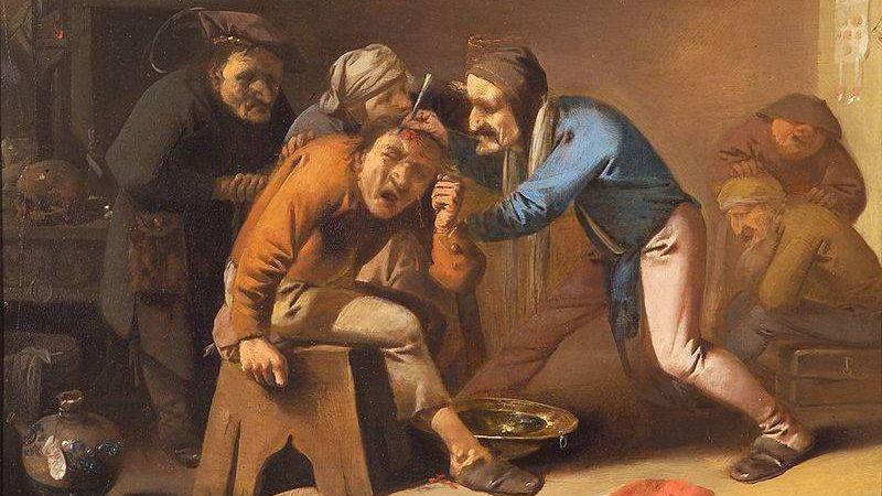 Питер Квост. Извлечение камня глупости (фрагмент). 1630