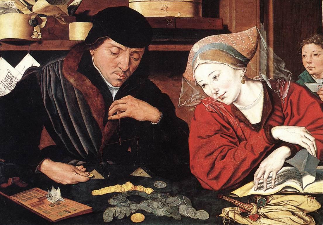 Мариус ван Реймерсвале. Банкир с женой. 1539