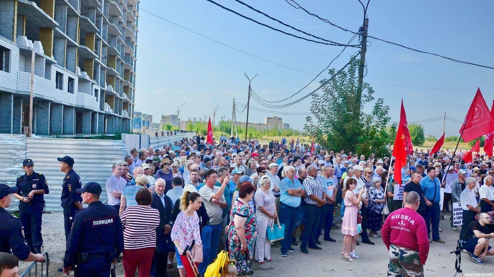 Митинг против пенсионной реформы 2 сентября 2018 года, Брянск