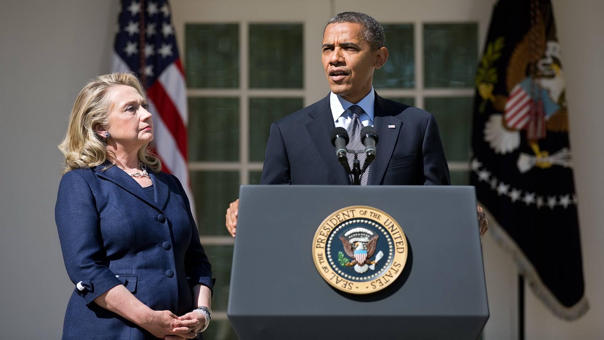 Барак Обама вместе с Хиллари Клинтон