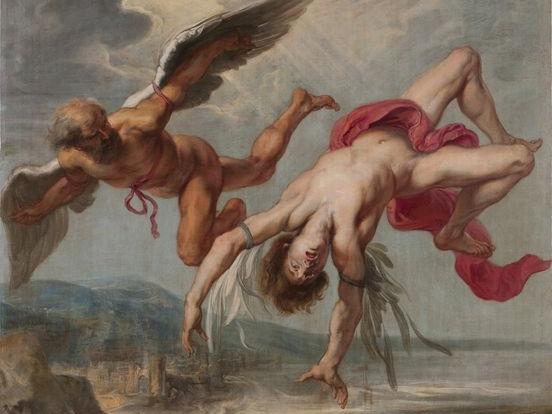 Падение Икара» Якоб Петер Гоуи, ок. 1636-1637 гг.