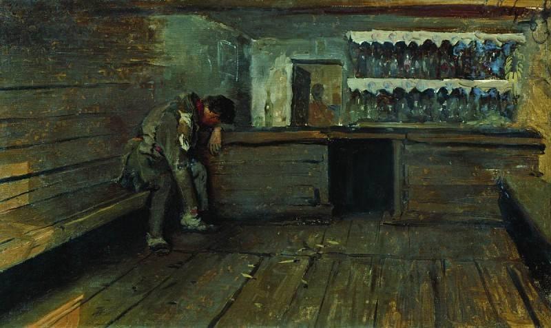 Андрей Рябушкин. Кабак. 1891