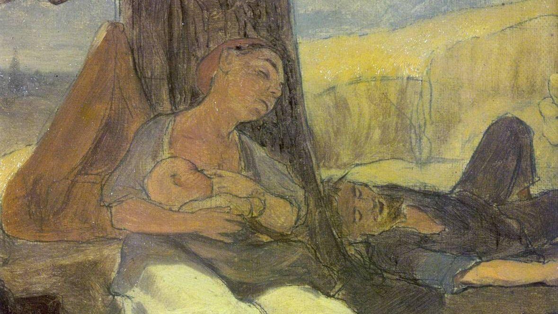 Василий Перов. Трудовое семейство. Эскиз. XIX век