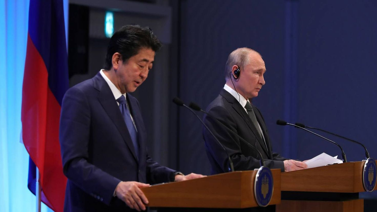 Заявления для прессы по итогам переговоров Владимира Путина с Премьер-министром Японии Синдзо Абэ.