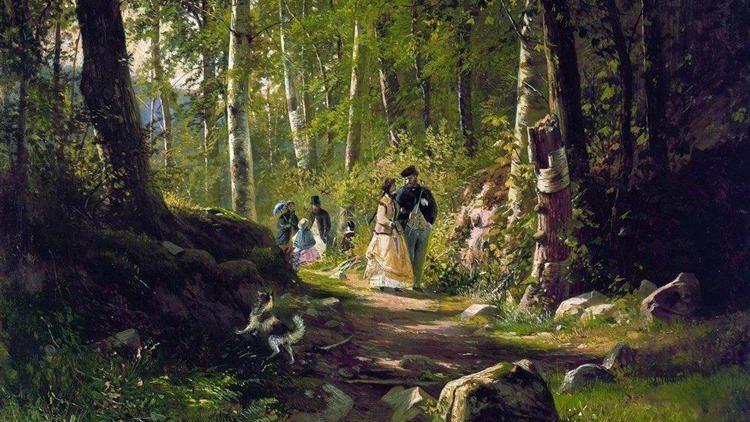 Иван Шишкин. Прогулка по лесу. 1869