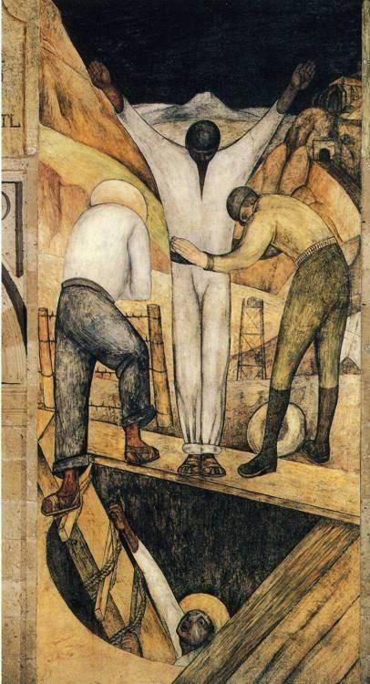 Диего Ривера. Выход из шахты. 1923