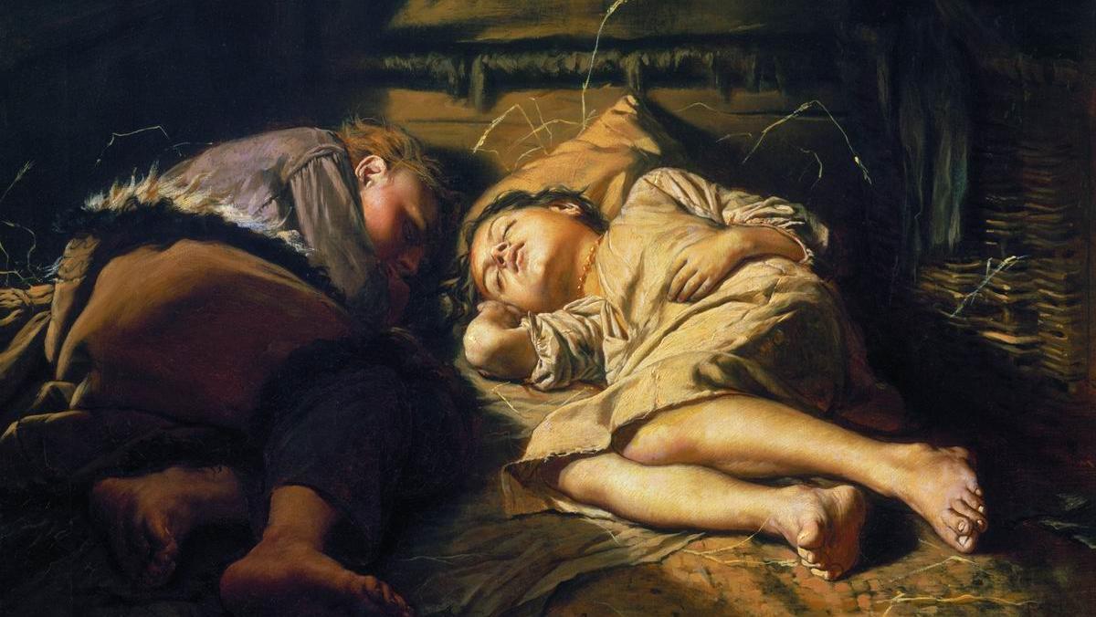 Спящие дети. Перов. 1870
