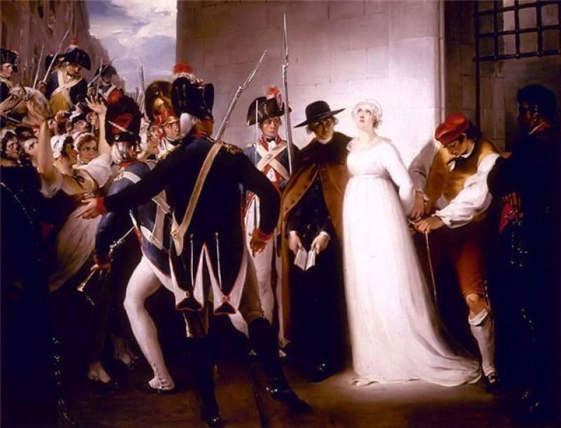 Неизвестный художник. Мария Антуанетта перед казнью.