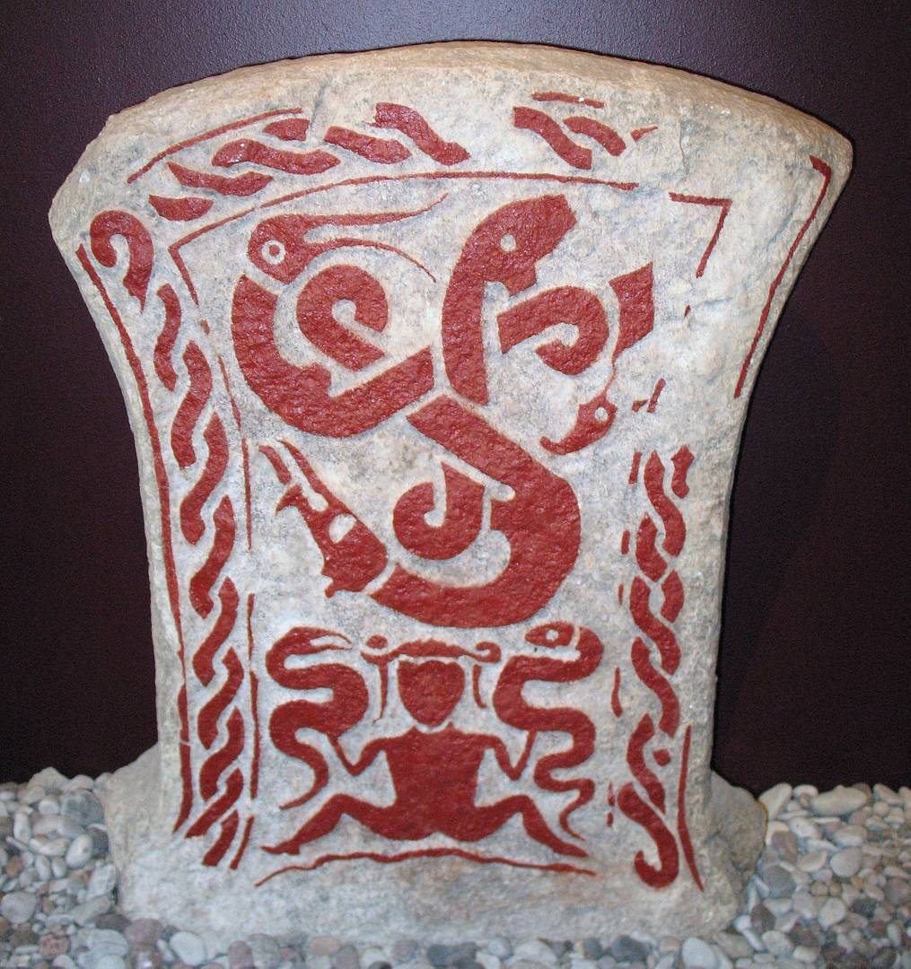 Камень Змеи-ведьмы с острова Готланд