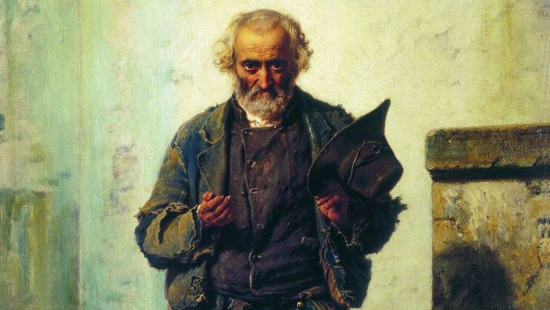 Федор Бронников. Старик-нищий. 1869